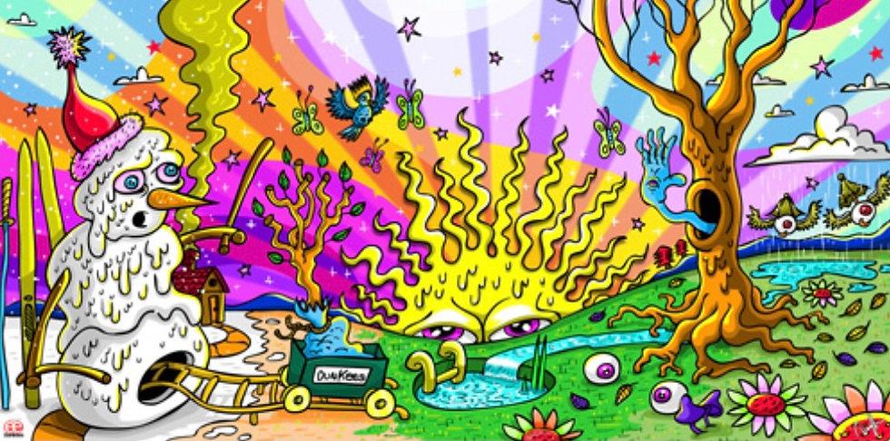 DUNKEES #4 Seasons Canvas Print