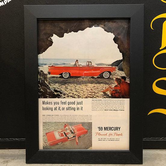 Vintage flyer #1959's MERCURY Monterey convertible