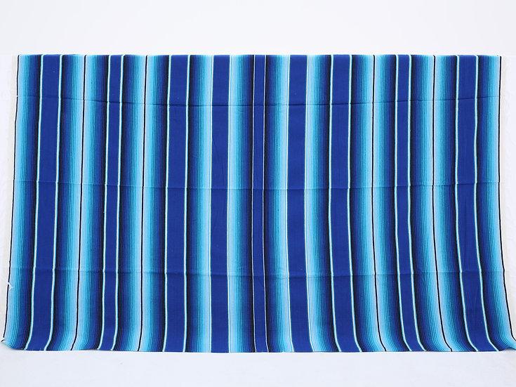 メキシカンブランケット(Saltillo Serape:AZUL & BLUE TWO TONE)