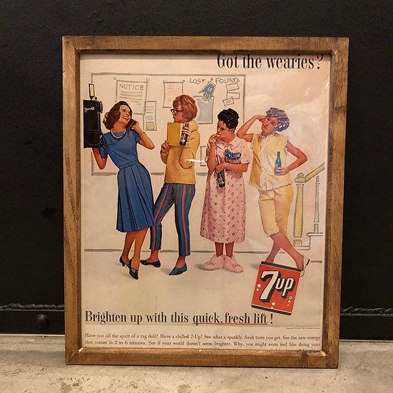 Vintage flyer #1962's 7UP