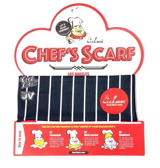Cookman™️ Chef's Scarf #Stripe Black