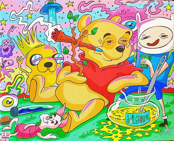 DUNKEES #PoohDventure Canvas Print