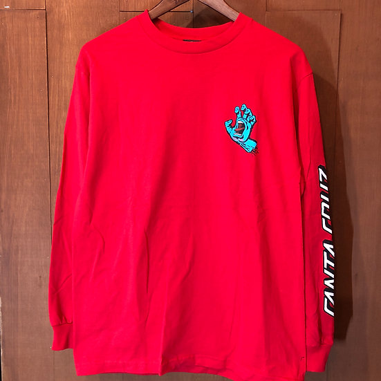 SANTA CRUZ #SCREAMING HAND L/S Red