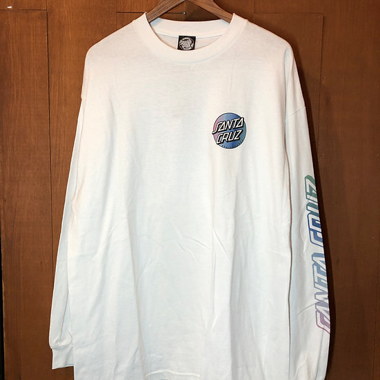 SANTA CRUZ #MISSING DOT L/S White