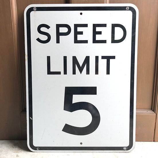 Road Sign #Speed Limit 5
