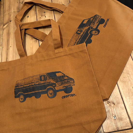 ヘヴィー キャンバストートバック M・Lサイズ キャメル #70's Dodge Van