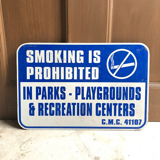Street Sign #No Smoking Blue