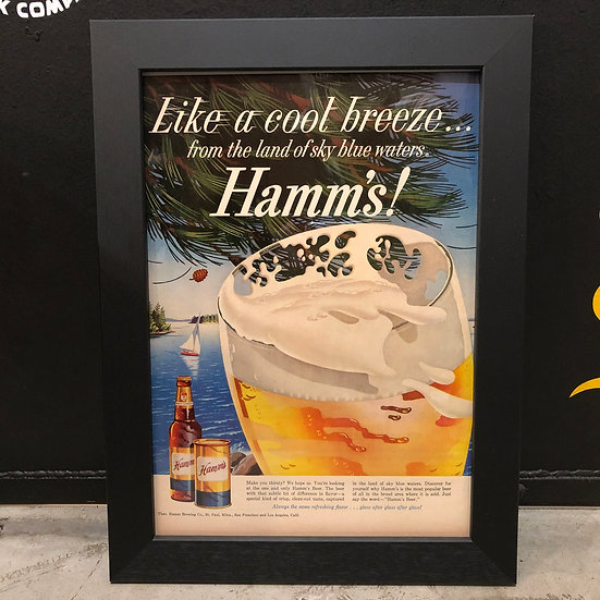 Vintage flyer #1959's Hamm's Beer