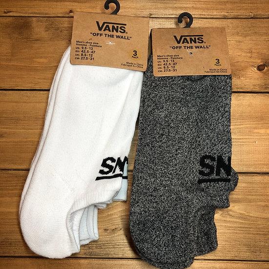 VANS #3Socks/White or Gray