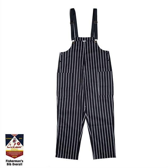 Cookman™️ Fisherman's Bib Overall #Stripe Black