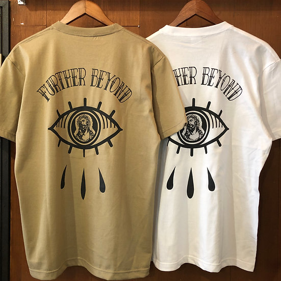 FURTHER BEYOND tee #White or Sand Khaki