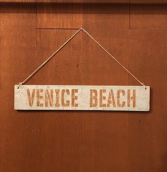 Wood sign #VENICE BEACH Mint gray