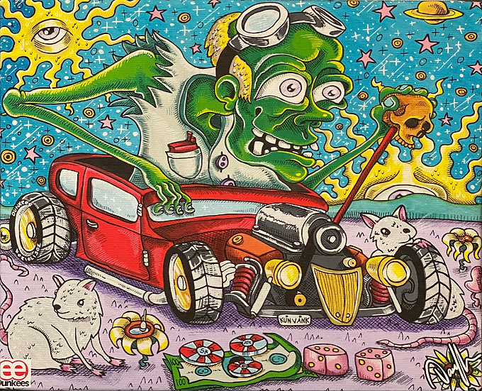 DUNKEES #Green Demon Canvas Print