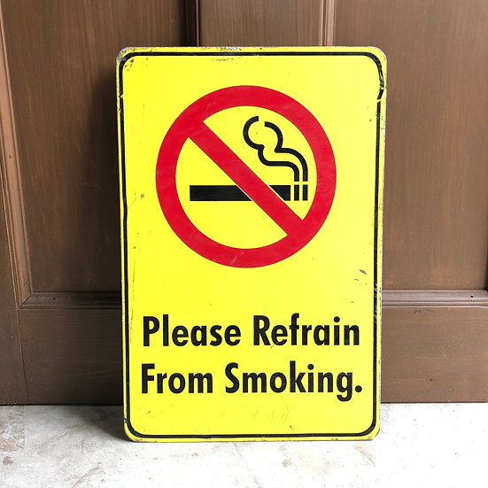 Street Sign #No Smoking Yellow