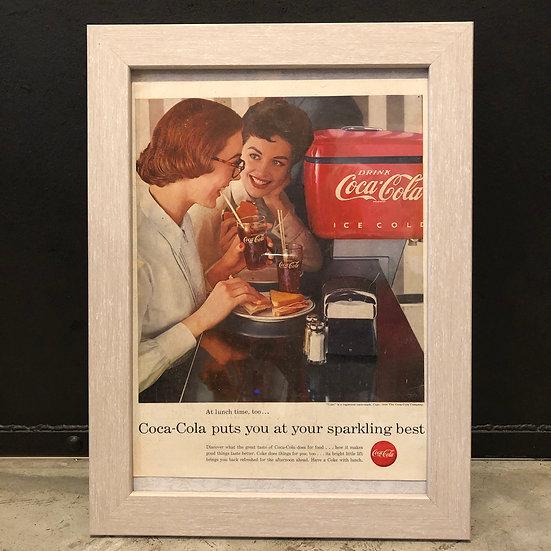 Vintage flyer #1956's Coca cola