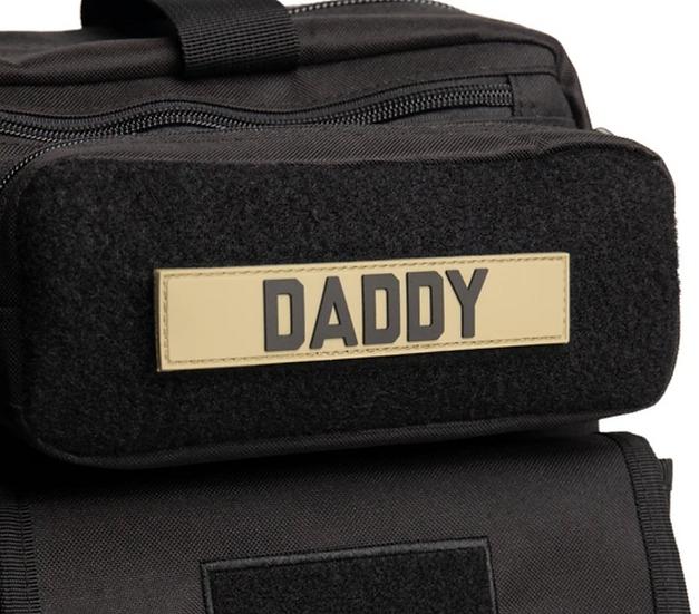 DADDY Name Tape Patch #Brown PVC