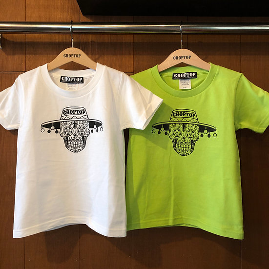 Mexican skull KIDS-tee #Light Green or White