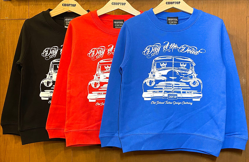 Day of the Dead KIDS-sweat #Black or Royal blue or Red