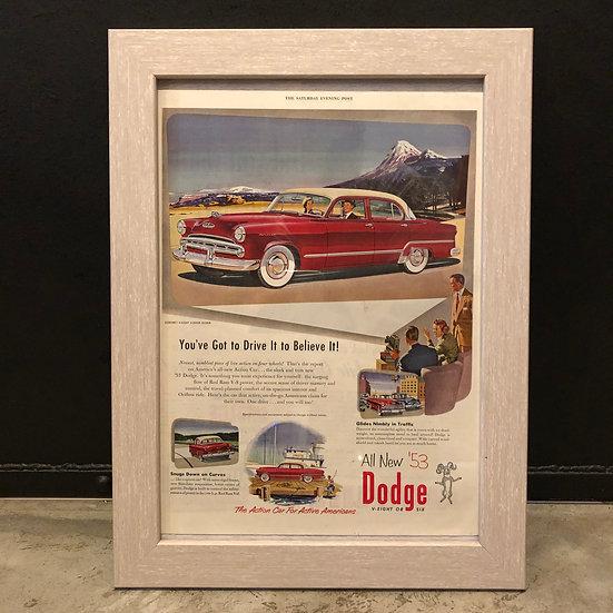 Vintage flyer #1953's Dodge V-eight