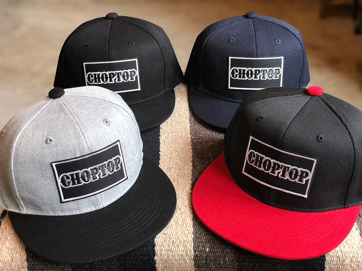 LOGO PATCH FLAT VISOR CAP #Black or Gray or Red or Navy