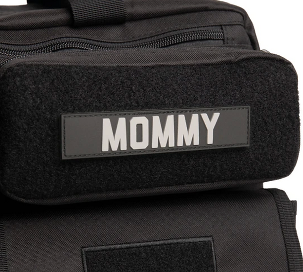 MOMMY Name Tape Patch #Black PVC