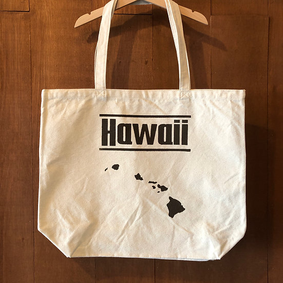 キャンバストートバック M・Lサイズ ナチュラル#HAWAII