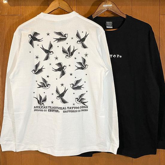 Swallow L/S tee #Black or White