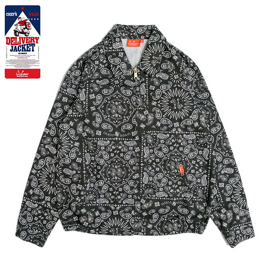 Cookman™️ Delivery Jacket #Paisley Black