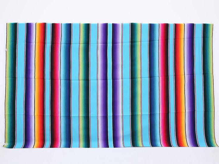 メキシカンブランケット(Saltillo Serape:LIGHT BLUE)