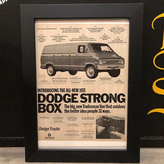 Vintage flyer #1970's Dodge Van