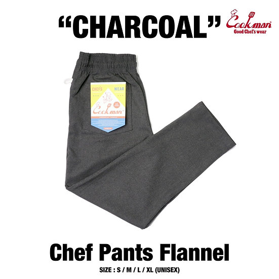 Cookman™️ Chef Pants Flannel #Charcoal