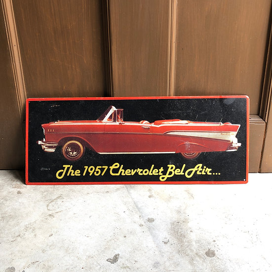 Vintage Sign #Chevrolet Bel Air 1957