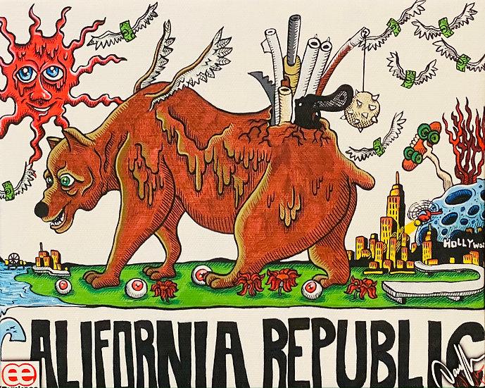 DUNKEES #CA Republic Canvas Print