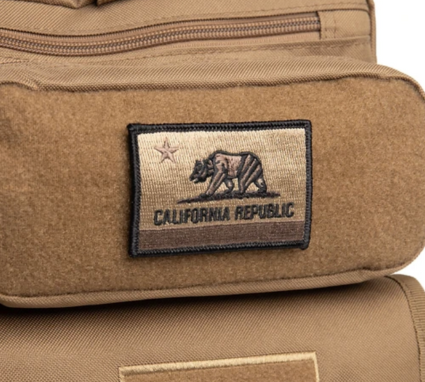 CALIFORNIA Flag Patch #Coyote Brown