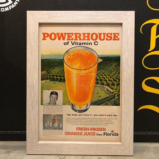 Vintage flyer #1959's Florida Orange juice