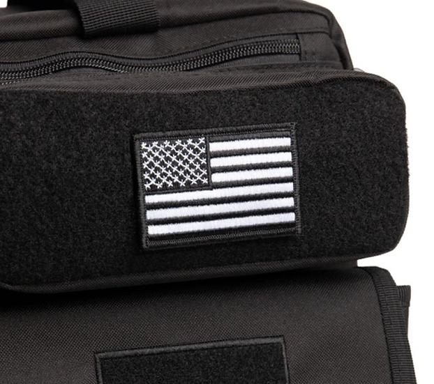 USA Flag Patch #Black