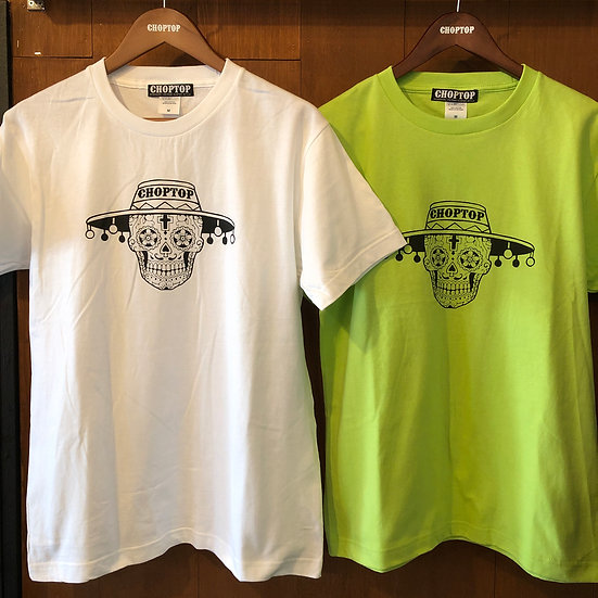Mexican skull tee #Light Green or White
