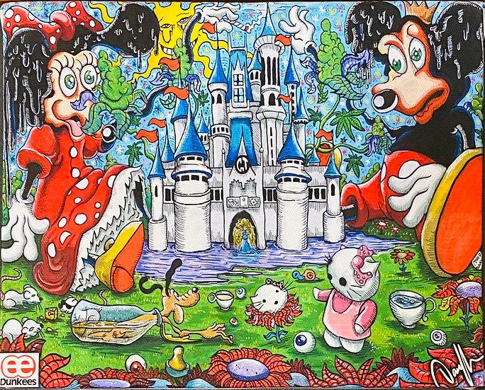 DUNKEES #Melting Mice Canvas Print