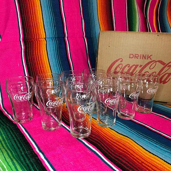 """1970's Coca-Cola Glass """"Showa Retro Glass"""""""