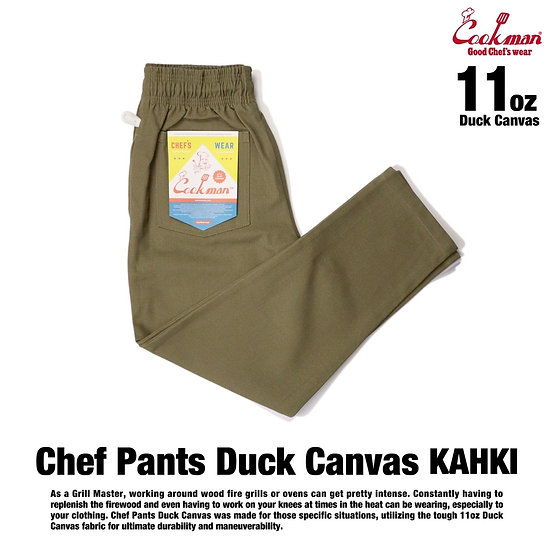 Cookman™️ Chef Pants Duck Canvas #Khaki