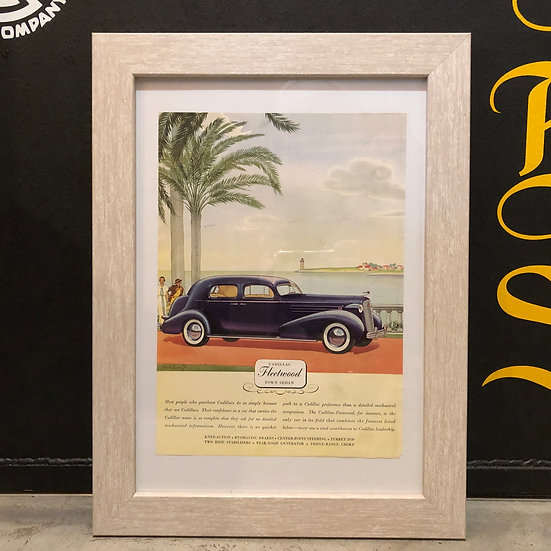 Vintage flyer #1936's Cadillac Fleetwood