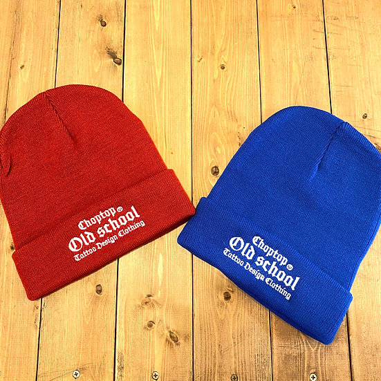 Old school knit cap #Royal blue or Red