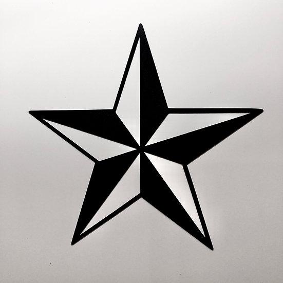 Nautical Star Cutting Sticker #Matte Black