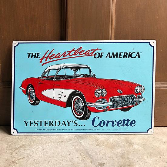 Vintage car Sign #Corvette