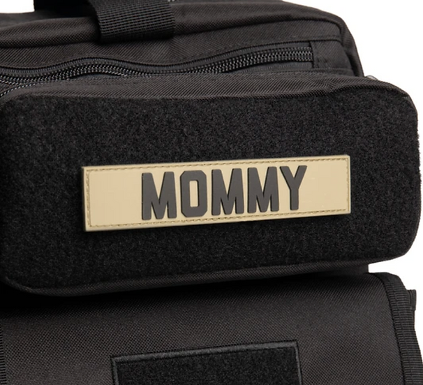 MOMMY Name Tape Patch #Brown PVC