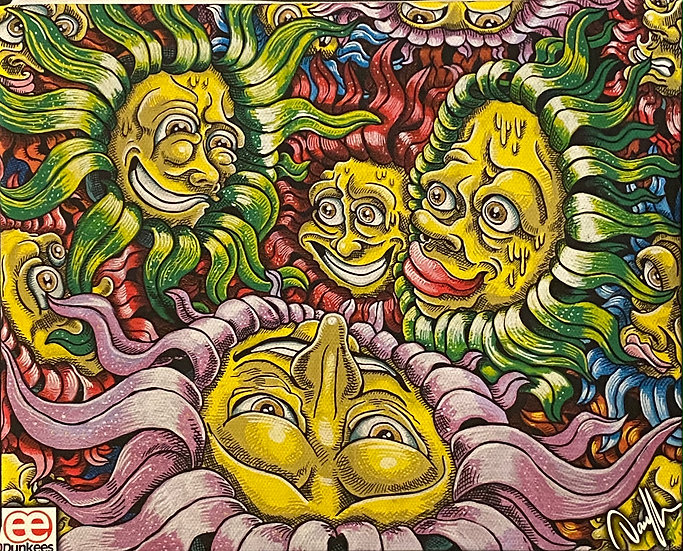 DUNKEES #Flower Faces Canvas Print