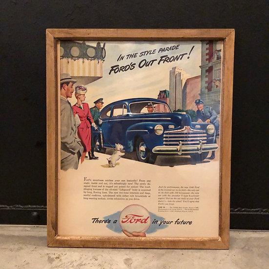 Vintage flyer #1946's Ford