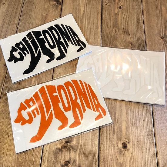 CALIFORNIA BEAR Cutting Sticker #Orange or Black or White