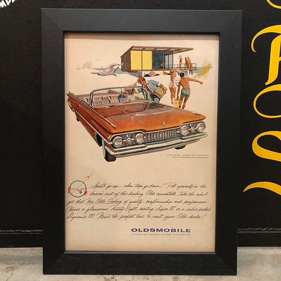 Vintage flyer #1959's OLDSMOBILE 98 Convertible