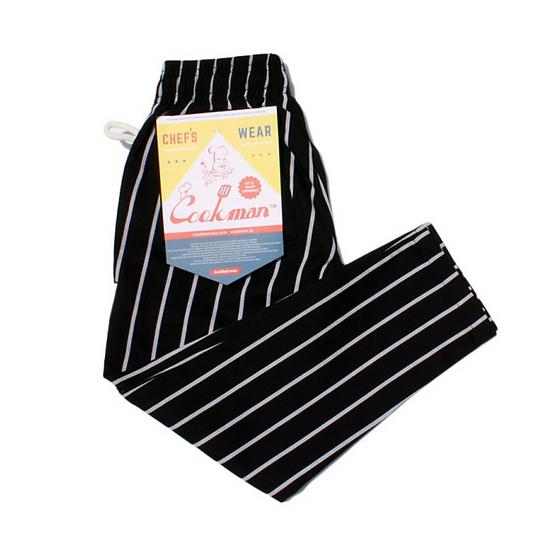 Cookman™️ Chef Pants Kids Size #Stripe Black